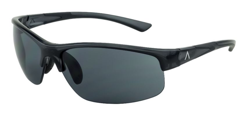 SKU 85000- Tropea Black Gloss Frame with UV Gray, Large Size Lens