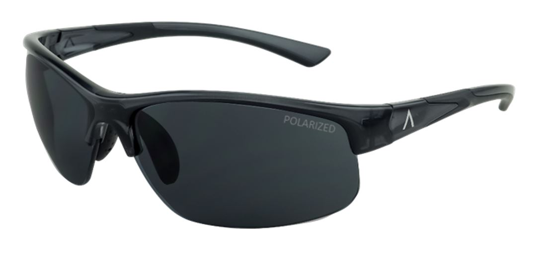 SKU 85600- Tropea Black Gloss Frame with Polarized Gray, Large Size Lens