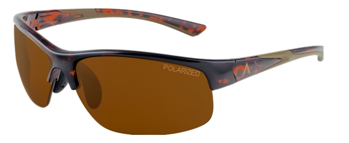 SKU 85604- Tropea Tortoise Shell Frame with Polarized Brown, Large Size Lens